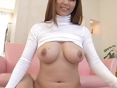 Horny Oriental with large merry wobblers thrills with wet orall-service job