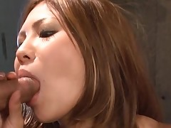 Large brassiere buddies Oriental gets her taut cunt thrashed in hawt group sex