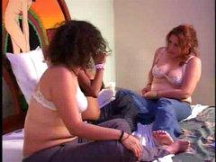 Pregnant lesbian babes